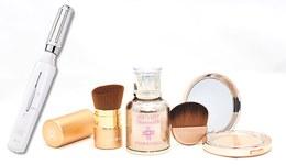 化粧品「オンリーミネラルセット」と美顔器「プラチナホワイト うるおいローラー」セット